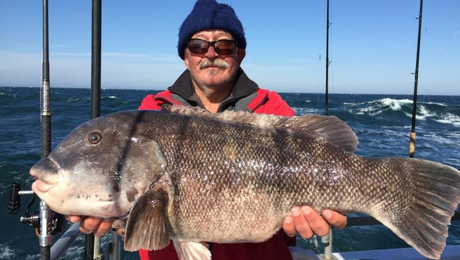 Capt. Howard Dicicco, Sea Horse and Sea Hunter, fished on the Big Mohawk on Sunday, Feb. 28 and landed this 22-pound, 13-ounce blackfish