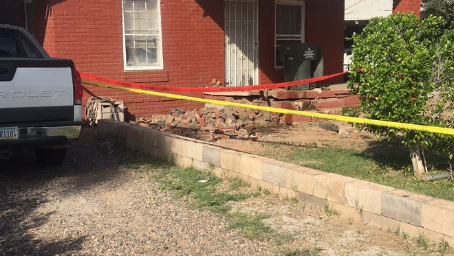 A car plowed into the side of home near 15th Ave. and Fillmore.