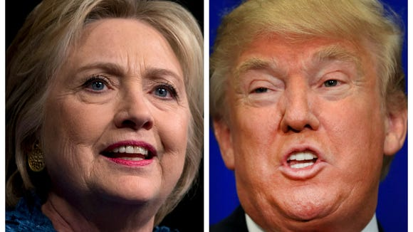 Presidential candidates Hillary Clinton and Donald