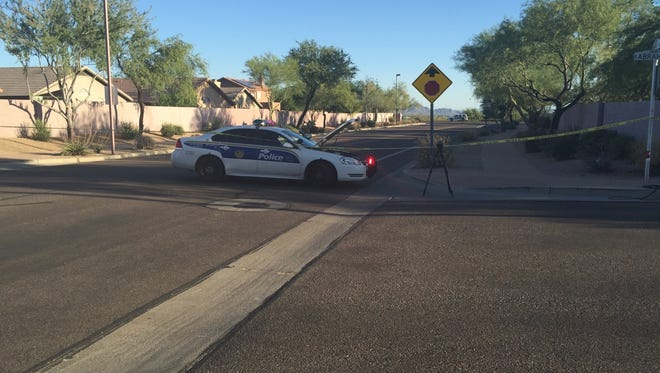 Police in north Phoenix shot a man who pointed what appeared to be a gun at them, on June 16, 2016. It turned out the gun was a toy, police said.