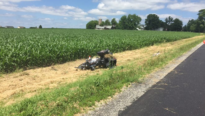 A motorcyclist was injured in a crash on Mayflower Drive Tuesday, July 5, 2016.