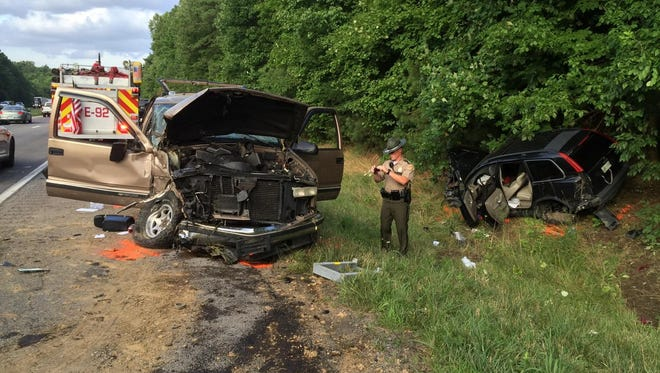 A head-on wreck on I-40 in Dickson County on Friday occurred when the tread of a tire came off.
