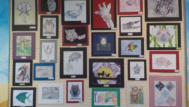 Artwork by Everglades schoolchildren.