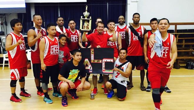 The Abundant Life Assembly of God Church basketball team, 2015 champions of the Church Basketball League. The league starts play on Aug. 20.