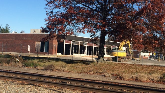 Demolition being undertaken in November at the proposed site of a ShopRite supermarket in Wyckoff.