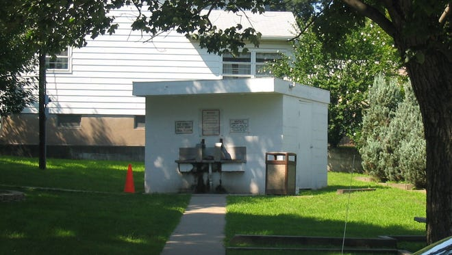 For years this spring house at Southside Avenue and Tilt Street in Haledon provided residents with free spring water.