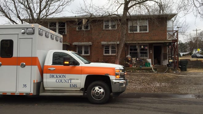 Apartment fire in unit 4 at Spring Haven Apartments Sunday.