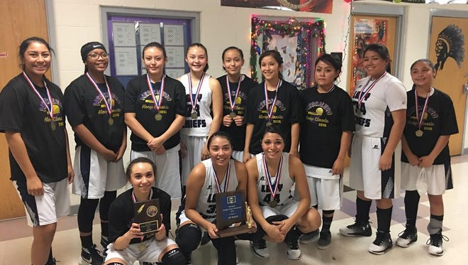 Mescalero's girls earn a second tournament win in-a-row Saturday, this time on their home court in the Mescalero Holiday Classic Tournament.