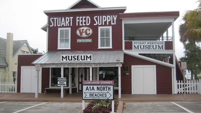 The front entrance to Stuart Heritage Museum on Flagler Avenue.