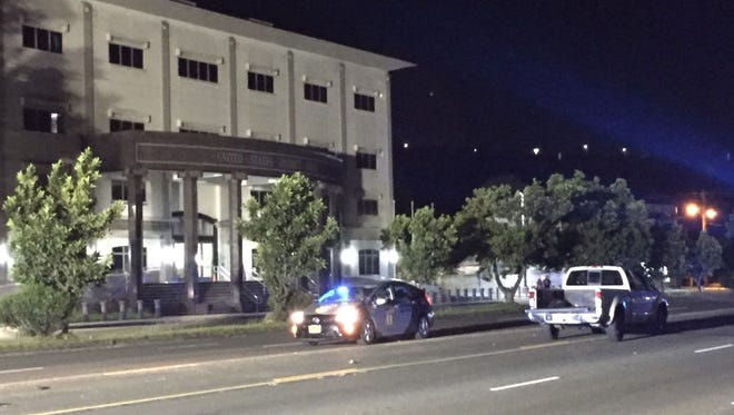 A man was taken to the U.S. Naval Hospital Guam after an auto-pedestrian accident in Anigua on Thursday.