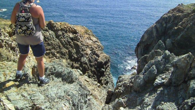 Spectacular views await the intrepid hiker in US Virgin Islands.