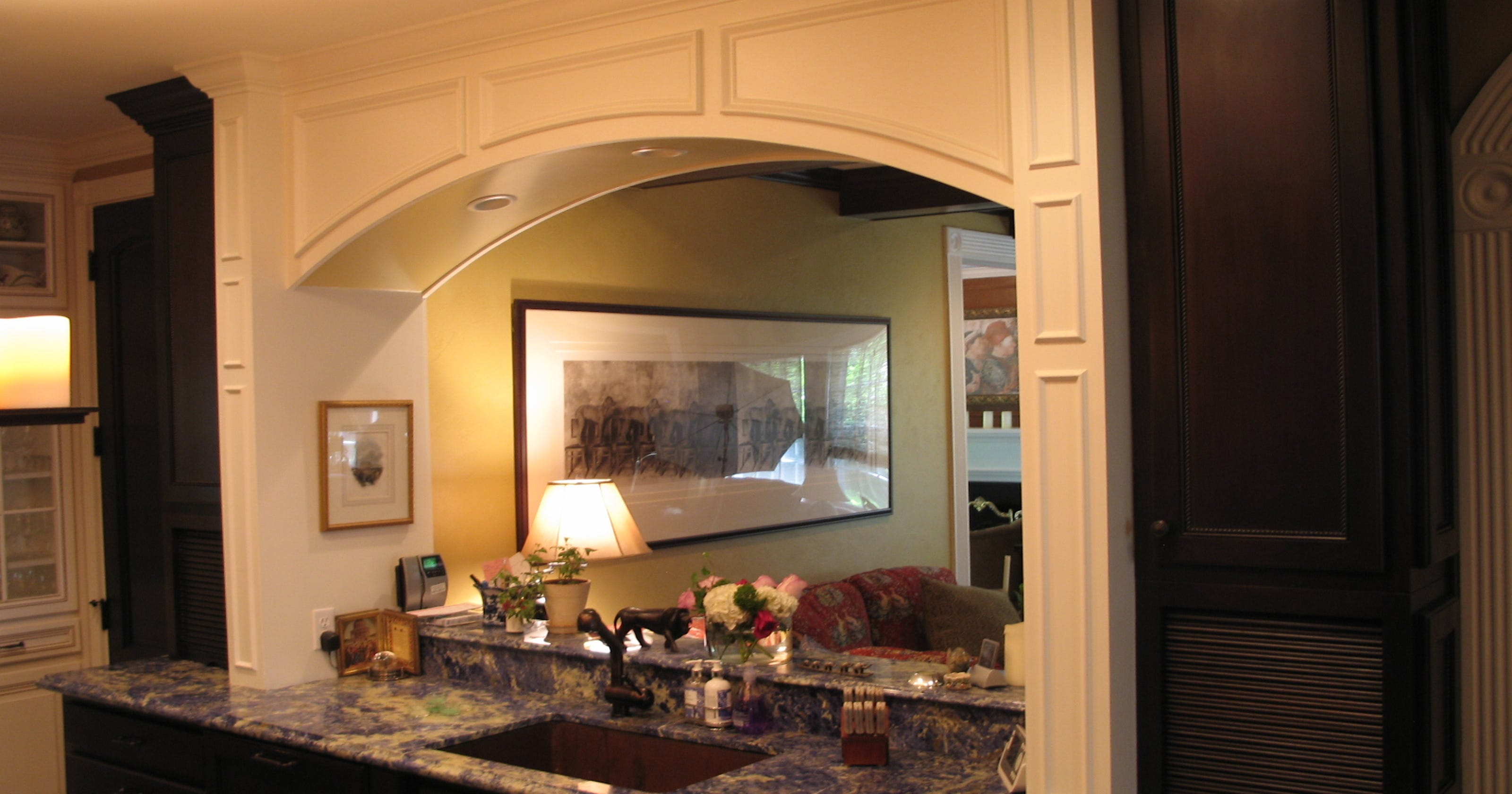 Extend your kitchen family room with a pass through
