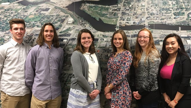 Kevin McMeans, Alex Myers, Elaina Falconer, Sophie Steimle, Ella Hecker and Leslie Yang. They will be in Japan from July 21 through July 31. When they return, they will travel with six Japanese students who will visit Manitowoc until Aug. 9.