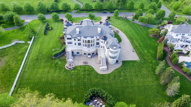 An aerial shot of 8 Squan Song Lane in Colts Neck.