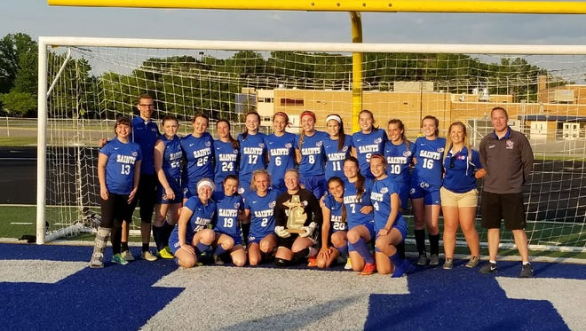 The St. Clair soccer team won its first district title since 2001 last week.