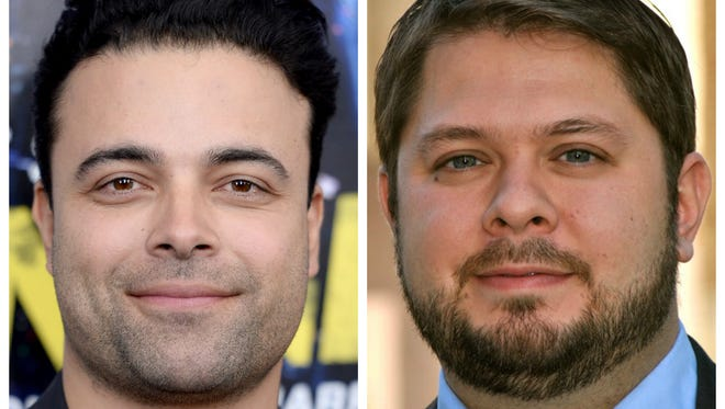 "Actor James Martinez (left) plays Alex Romero on ""House of Cards,"" a firebrand Democratic Arizona congressman with eerie similarities to the real guy, Ruben Gallego (right)."