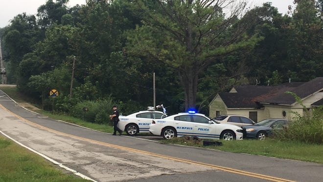 Memphis police respond to to the shooting of a child on West Shelby Drive.