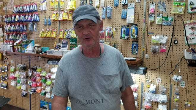 Angler's Supplies owner Bernie Whitt says he is concerned about reports that anti-depressants are being found in fish brains.