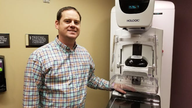 Dr. Nathan Egbert, medical director of radiology for ProMedica Memorial Hospital, said the 3-D mammography machine has detected 50 invasive breast cancers since it debuted in August 2016. Of those 50, Egbert said 12 would have not been detected with 2-D technology.