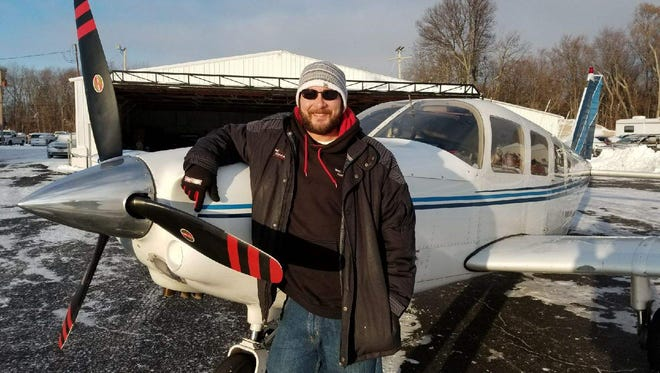Dustin Shaffer, owner and pilot of Island Air Taxi, said he makes 20 to 30 trips per day when Lake Erie is frozen.