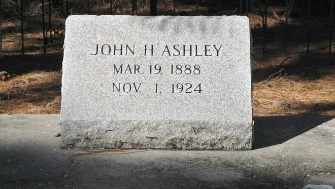 Headstone for John H. Ashley 1888 - 1924