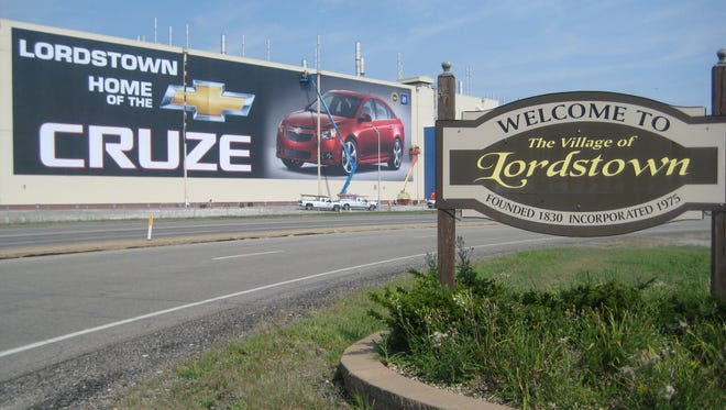 General Motors plans to cut a shift at its Lordstown Assembly plant in Ohio.
