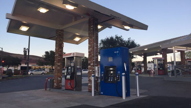Ventura County's first hydrogen station is pictured in Thousand Oaks. The station allows owners of hydrogen-powered vehicles to fuel their cars.