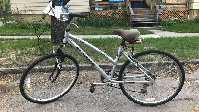 GFPD is seeking information on the identity of a woman reportedly last seen riding this bicycle on the 200 block of 12th Street North around 4:30 p.m. Thursday.