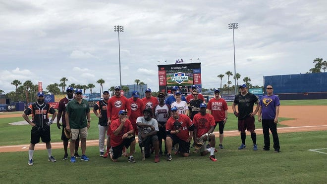 The fundraising event featured St. Lucie Firefighters in a four-inning game against St. Lucie Public School Educators.