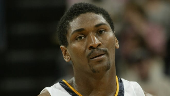 Former Pacers player Metta World Peace, or Ron Artest as he was known then.