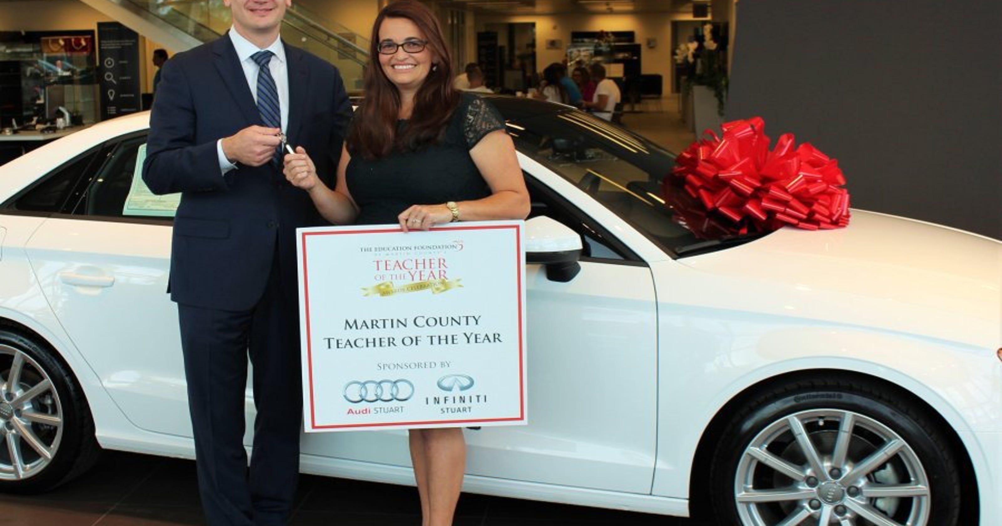 Audi Stuart Infiniti Stuart Donate Oneyear Lease To Teacher Of The - Audi stuart