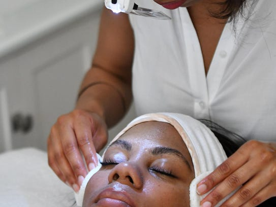 Bare Skin Facial and Waxing Studio owner Alicia Frazier,