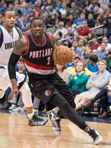 Wesley Matthews during the game against the Dallas