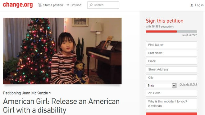 Melissa Shang, 10, is asking American Girl to create a disabled doll.