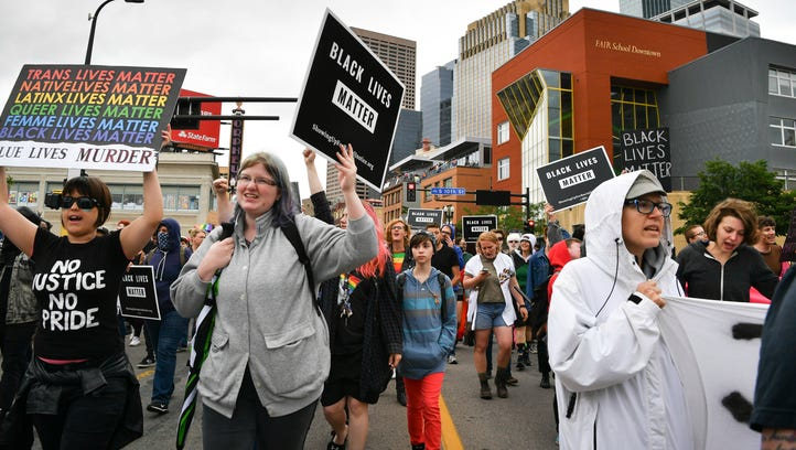 Black Lives Matter protesters block the Twin Cities