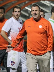 Clemson men's soccer Mike Noonan during a game against