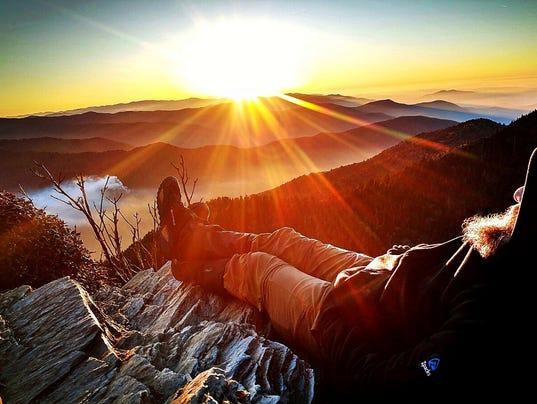 Smoky Mountain hiker