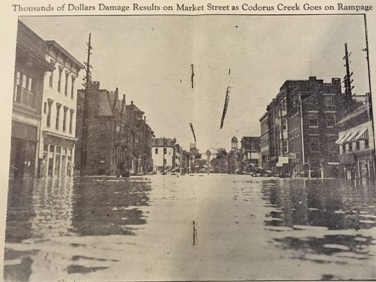 A photo copied from the 1933 York flood souvenir booklet.