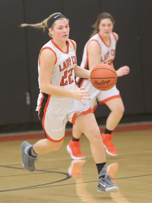 Lucas Lady Cub Jessie Grover nearly posted a triple-double in a win over Mansfield Christian on Saturday.