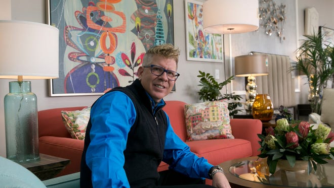 Ty Christian, owner of Parkemoor, a home furnishing and design businessss in Asbury Park.
