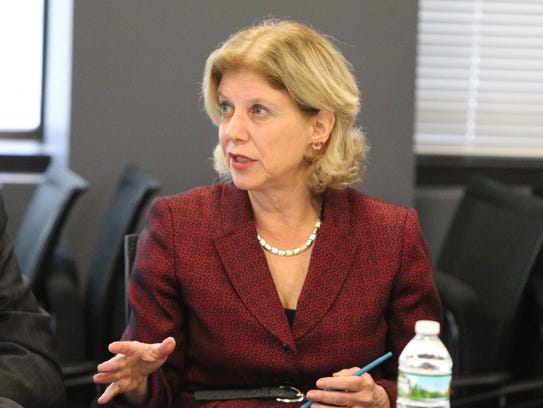 State Assemblywoman Shelley Mayer speaks at a Journal