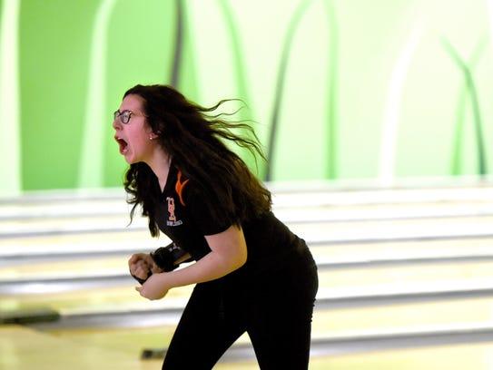 Top bowler Ashley Cicciarelli, of Union-Endicott, during