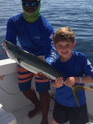 The Hoppers fishing in Costa Rica