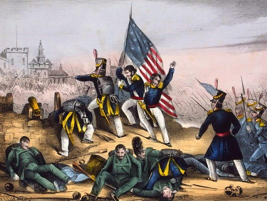 """Attack on Chapultepec, Sept. 13th 1847--Mexicans routed with great loss"" - E. B. & E. C. Kellogg, Library of Congress"