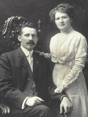 A portrait of John and Nora Cunningham, the grandparents of Kevin P. Reilly, former president of the University of Wisconsin System.