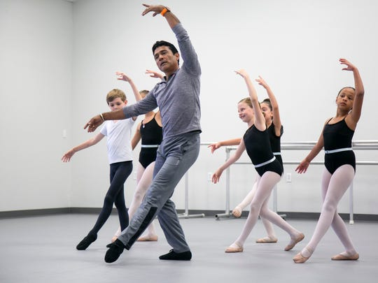 Gulfshore Ballet artistic director Franklin Gamero works with level three students at Gulfshore Ballet on Thursday, April 20, 2017, in south Fort Myers.