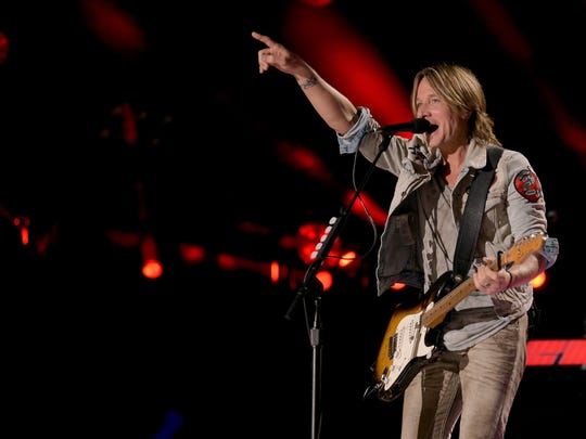 Keith Urban performs at the 2018 CMA Music Festival. He's headed to Camden for a show.