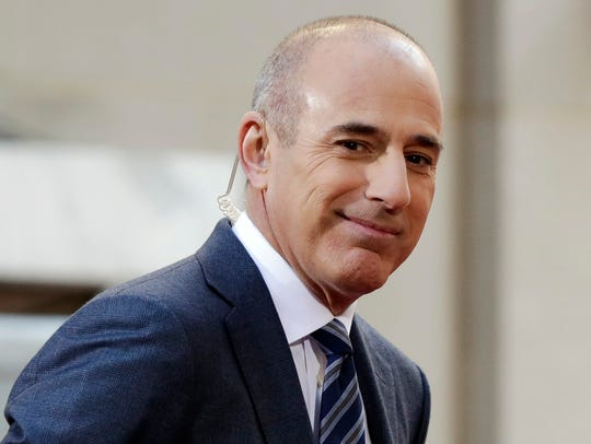 Matt Lauer in April 2016 in Rockefeller Plaza in New