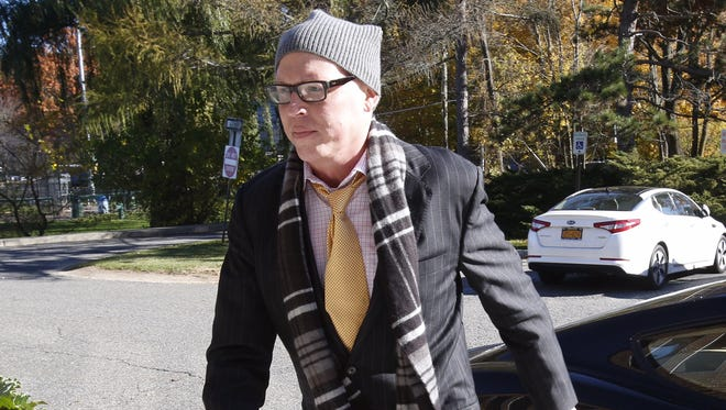 Former Chappaqua drama teacher Christopher Schraufnagel, accused of sexually abusing students, arrives at New Castle Town Court on Monday, Nov. 7, 2016.