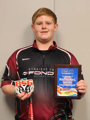 Sabish Middle School's Brady Buss placed first at the Indoor National S3DA Archery Championship.